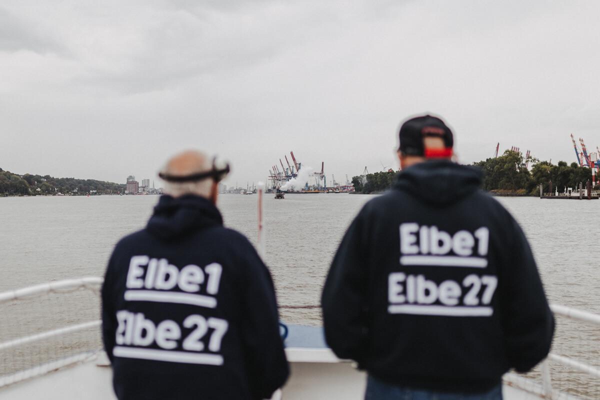 Die Crew der Elbe1 beim Elbfest2018