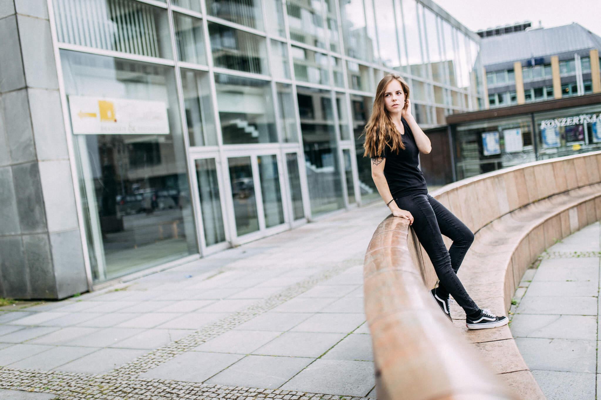 Model beim Porträtshooting in Kiel